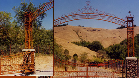 skywalker ranch gate and arch